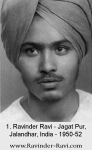 1. Ravinder Ravi - Jagat Pur, Jalandhar, India - 1950-52