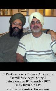10. Ravinder Ravi's 2 sons - Dr. Amritpal Shergill & Saihajpal Shergill Prince George, BC, Canada - 2007 Pic by Ravinder Ravi