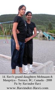 14. Ravi's grand daughters Mohnaam & Manpriya - Terrace, BC, Canada - 2008 Pic by Ravinder Ravi