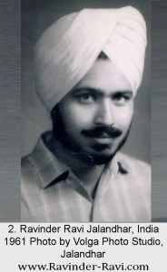 2. Ravinder Ravi - Jalandhar, India - 1961 - Photo by Volga Photo Studio, Jalandhar