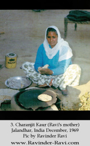 3. Charanjit Kaur (Ravi's mother) - Jalandhar, India - December 1969 - Pic by Ravinder Ravi