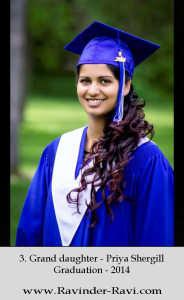 3. Grand daughter - Priya Shergill - Graduation - 2014