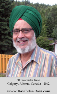 30. Ravinder Ravi - Calgary, Alberta, Canada - 2012
