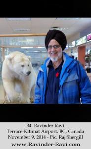 34. Ravinder Ravi - Terrace-Kitimat Airport, BC, Canada - November 9, 2014 - Pic. Raj Shergill