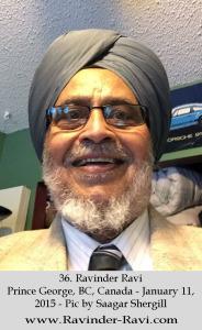 36. Ravinder Ravi - Prince George, BC, Canada - January 11, 2015 - Pic by Saagar Shergill