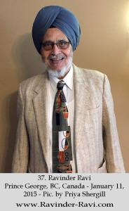 37. Ravinder Ravi - Prince George, BC, Canada - January 11, 2015 - Pic. by Priya Shergill