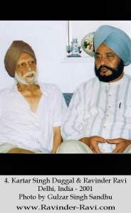 4. Kartar Singh Duggal & Ravinder Ravi - Delhi, India - 2001 - Photo by Gulzar Singh Sandhu