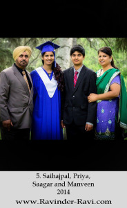 5. Saihajpal, Priya, Saagar and Manveen - 2014