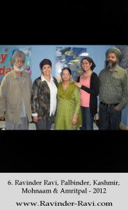 6. Ravinder Ravi, Palbinder, Kashmir, Mohnaam & Amritpal - 2012