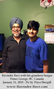6. Ravinder Ravi with his grandson Saagar - Prince George, BC, Canada - January 11, 2015 - Pic by Priya Shergill