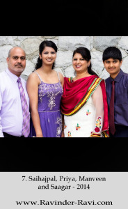 7. Saihajpal, Priya, Manveen and Saagar - 2014