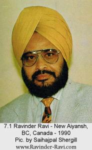 7.1 Ravinder Ravi - New Aiyansh, BC, Canada - 1990 - Pic. by Saihajpal Shergill