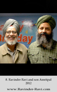 8. Ravinder Ravi and son Amritpal - 2012